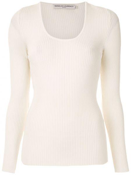 С рукавами белая блузка из вискозы Reinaldo Lourenço