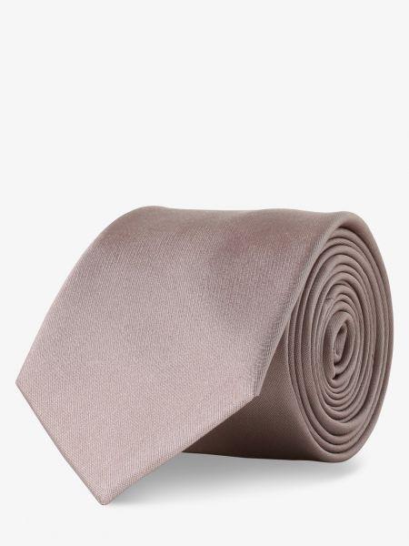 Beżowy krawat elegancki z jedwabiu Finshley & Harding