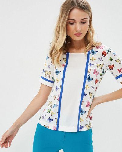 Блузка с коротким рукавом белая весенний Profito Avantage