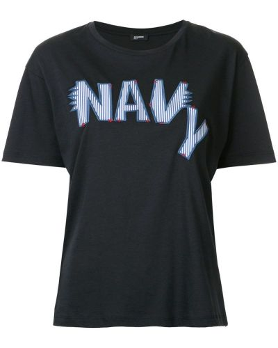 Футболка с вышивкой с логотипом Jil Sander Navy