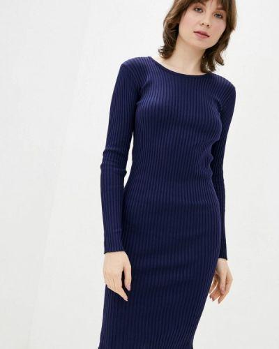 Синее платье-свитер Dasti