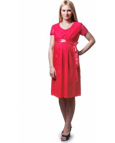 Платье для беременных коралловый на торжество Lacywear