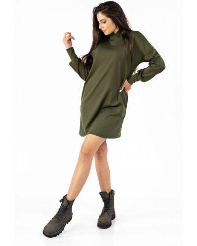 Платье мини с длинными рукавами - зеленое Mari-line