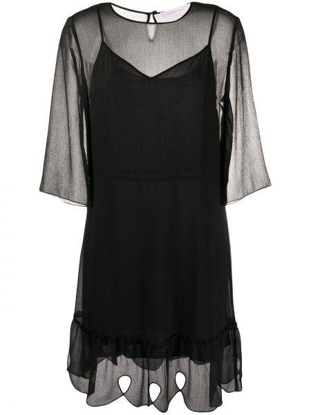 Платье трапеция черное See By Chloe