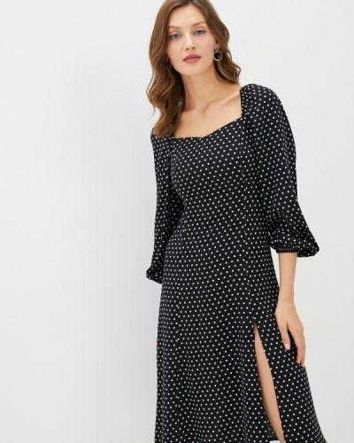 Прямое черное платье Trendyol