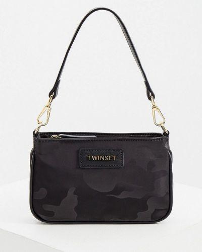 Черная текстильная сумка через плечо Twinset Milano