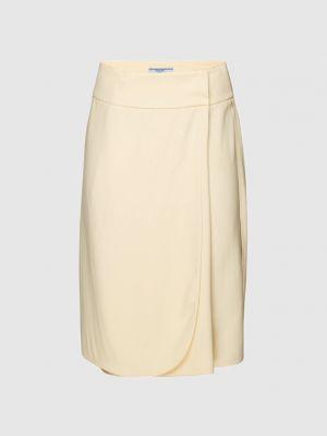 Желтая юбка мини с запахом Prada
