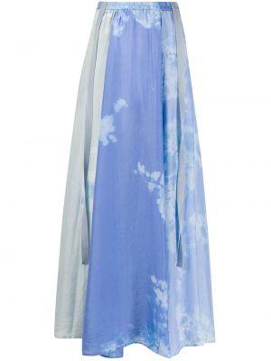 Шелковая юбка макси - синяя Raquel Allegra