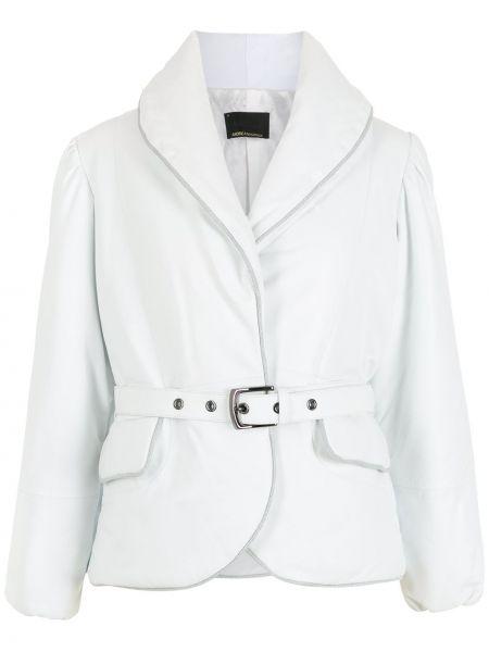 Белая дутая куртка Andrea Bogosian