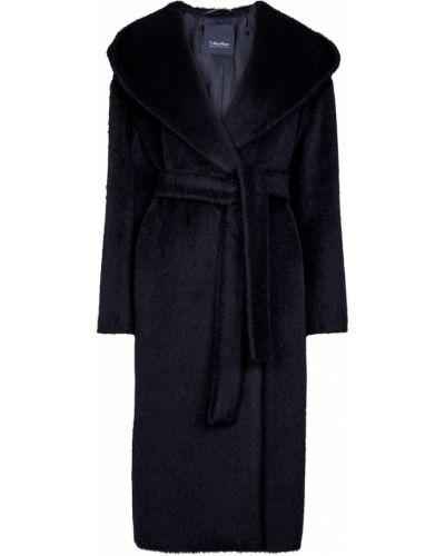 Niebieski płaszcz wełniany S Max Mara