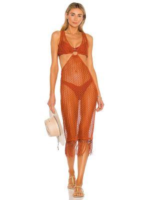 Złota sukienka midi Camila Coelho
