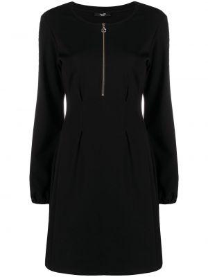 Хлопковое черное платье мини с вырезом Liu Jo