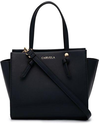 Желтая кожаная сумка-тоут с карманами Carvela