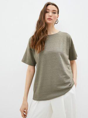 Зеленая футболка с короткими рукавами Max Mara Leisure
