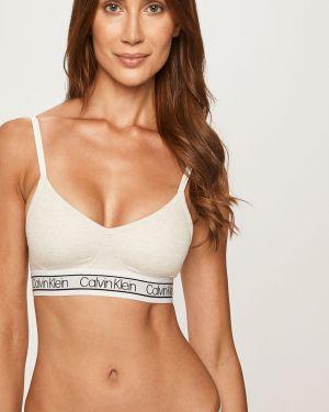 Классический белый бюстгальтер пуш ап на бретелях Calvin Klein Underwear
