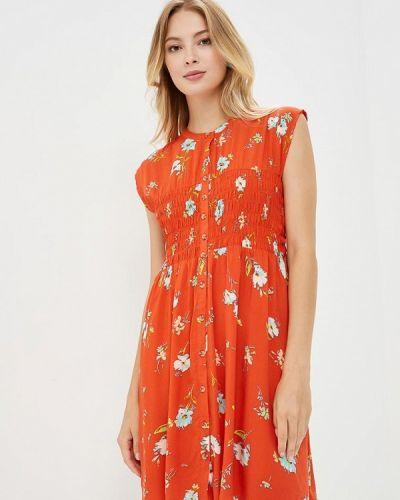 Оранжевое платье осеннее Free People
