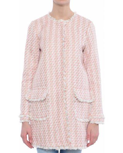 Розовое пальто с капюшоном Twin-set
