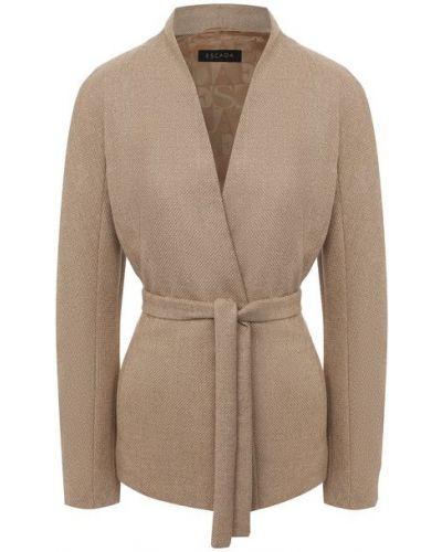Повседневный шерстяной пиджак с подкладкой Escada