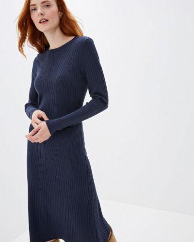 Платье осеннее синее Sela