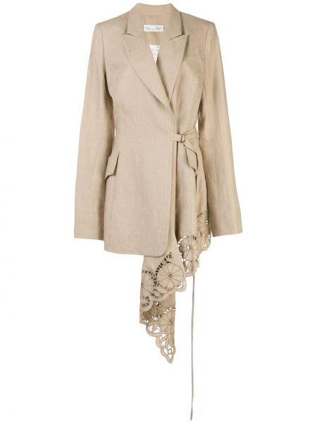 Куртка со вставками Oscar De La Renta