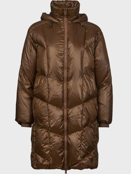 Шерстяная коричневая куртка на молнии Vince