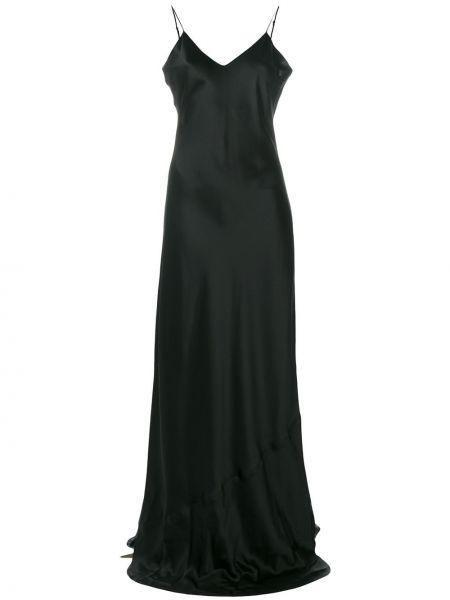 Черное шелковое платье макси Nili Lotan