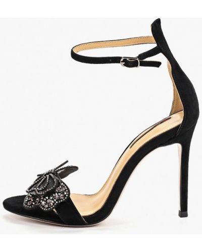 Босоножки черные на каблуке Winzor