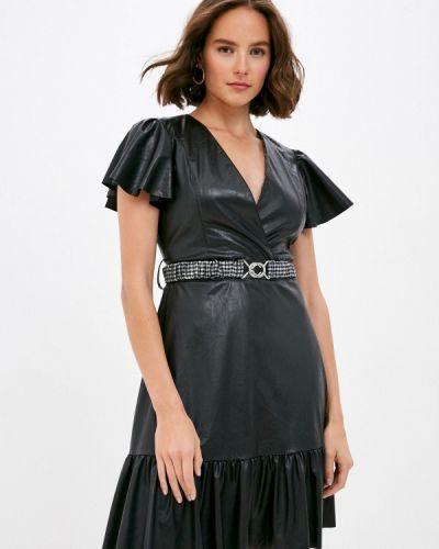 Кожаное черное платье Imperial