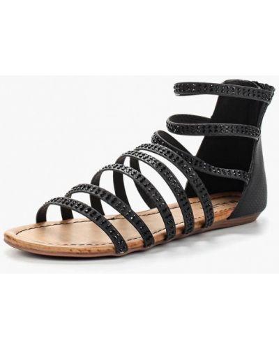 Черные кожаные сандалии Malien