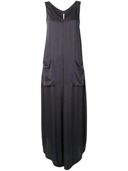 Серое платье макси с V-образным вырезом без рукавов трапеция Raquel Allegra