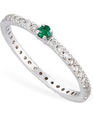 Zielony złoty pierścionek z diamentem Vanzi