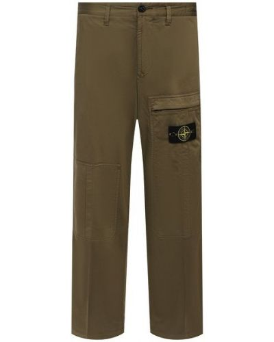 Шерстяные зеленые брюки Stone Island