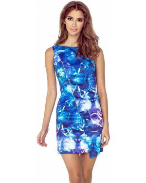 Sukienka asymetryczna w kwiaty materiałowa Morimia