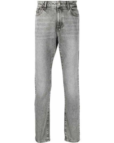 Хлопковые серые джинсы-скинни на молнии Karl Lagerfeld