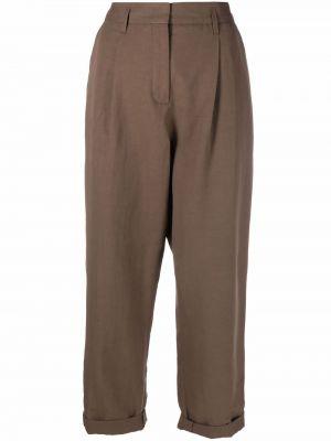 С завышенной талией коричневые льняные брюки Dorothee Schumacher