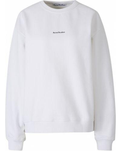 Biała bluza bawełniana oversize Acne Studios