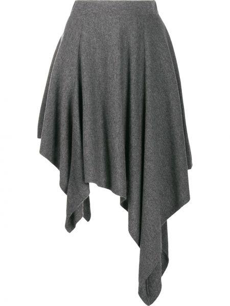 Юбка мини с поясом серая Michael Kors Collection