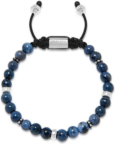 Klasyczna niebieska bransoletka srebrna Nialaya