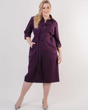Деловое платье на пуговицах с поясом Jetty-plus