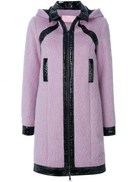 Różowy płaszcz wełniany Giamba
