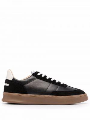 Czarne sneakersy koronkowe Spalwart