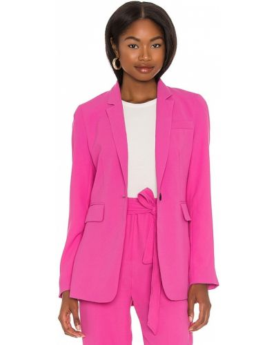 Текстильный малиновый пиджак с карманами 1. State