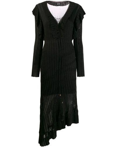 Платье макси на шнуровке в рубчик Just Cavalli