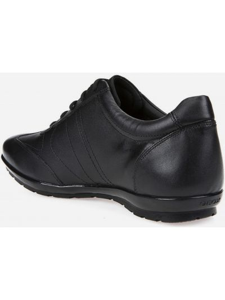 Черные кожаные кроссовки Geox
