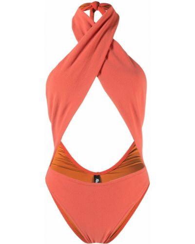Pomarańczowy strój kąpielowy kopertowy Reina Olga