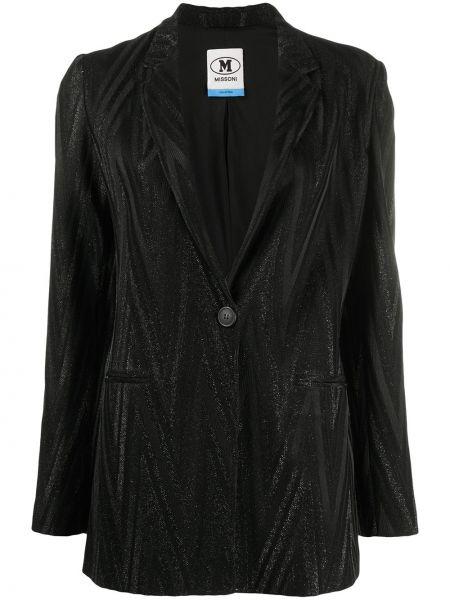 Черный удлиненный пиджак с карманами на пуговицах M Missoni