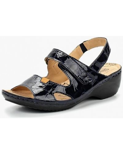 Босоножки на каблуке лаковые Shoiberg