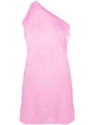 Różowa długa kamizelka bez rękawów bawełniana Rick Owens