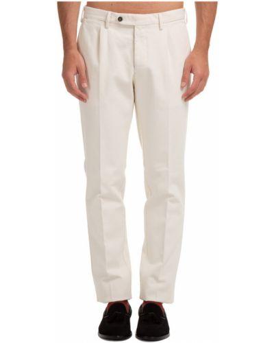 Białe spodnie Lardini