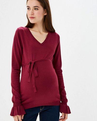 Пуловер бордовый красный Mama.licious
